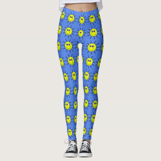 Sunshine smile a yellow sun smile on leggings