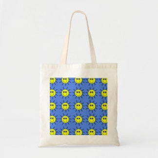 Sunshine smile a yellow sun with a smile tote bag