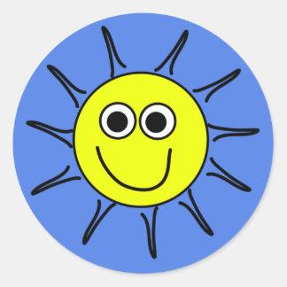 Sunshine smile classic round sticker