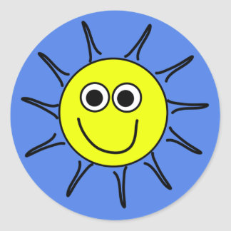 Sunshine smile round sticker