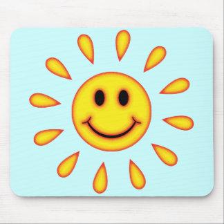 Sunshine Smiley Face Mouse Mat
