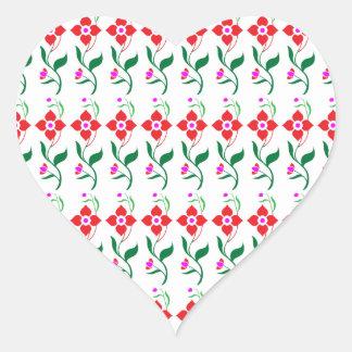 Sunshine Spring Flowers Heart Sticker