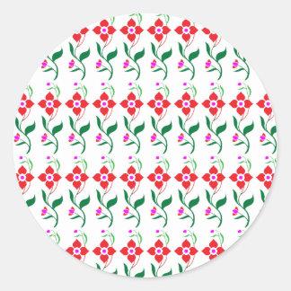 Sunshine Spring Flowers Round Sticker