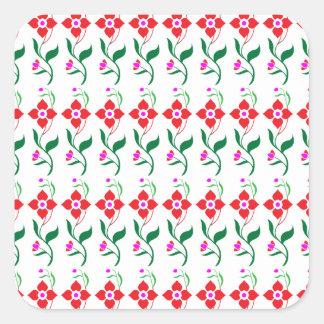 Sunshine Spring Flowers Square Sticker