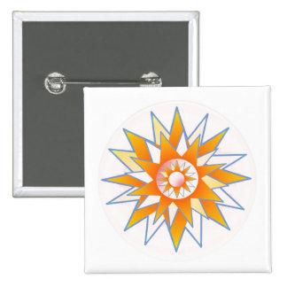 Sunshine Star 15 Cm Square Badge