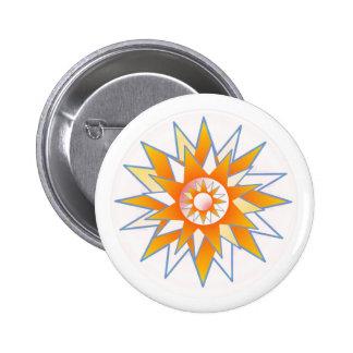 Sunshine Star 6 Cm Round Badge
