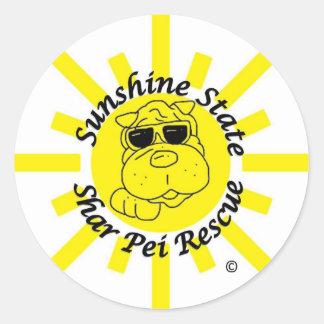 Sunshine State Shar Pei Rescue Round Sticker