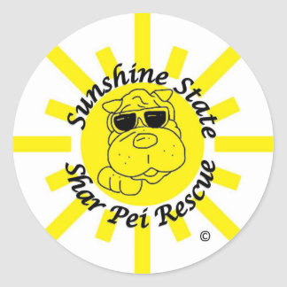 Sunshine State Shar Pei Rescue Classic Round Sticker