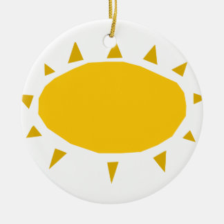 Sunshine, Sun shining, cartoon Christmas Ornament