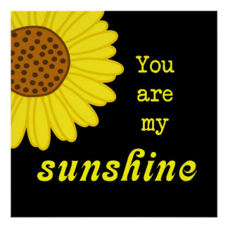 Sunshine Sunflower Poster