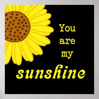 Sunshine Sunflower Poster
