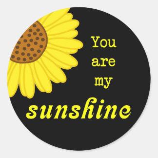 Sunshine Sunflower Round Sticker