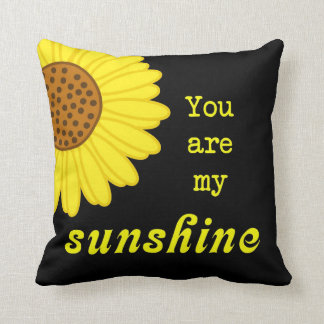 Sunshine Sunflower Throw Pillow