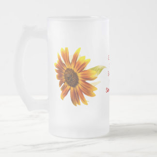 Sunshine Super Sunflower Frosted Mug