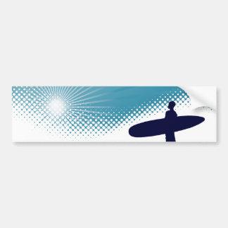 sunshine surfing bumper sticker