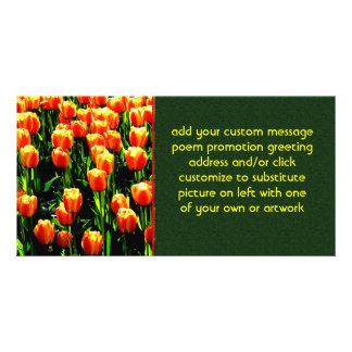 Sunshine Tulips Customised Photo Card
