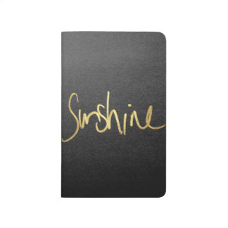 """""""Sunshine"""" Typography in Faux Painted Gold Journal"""