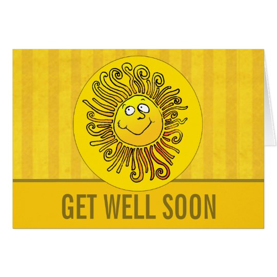 Sunshine Warm Wishes Get Well Card Template Custom