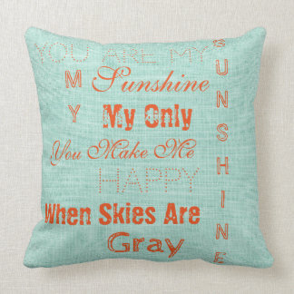Sunshine When Skies are Gray Throw Pillow