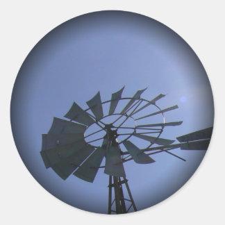 Sunshine Windmill Classic Round Sticker
