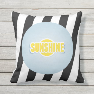 Sunshine with Grey and White Pillow