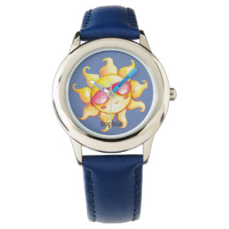 Sunshine with Sunglass on Blue Sky Personalized Watch