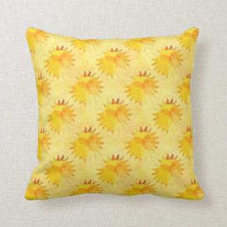 Sunshine Yellow Abstract Throw Pillows