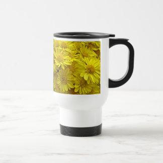 Sunshine Yellow Chrysanthemums Travel Mug