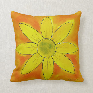 Sunshine Yellow Daisy ~ American MoJo Pillow