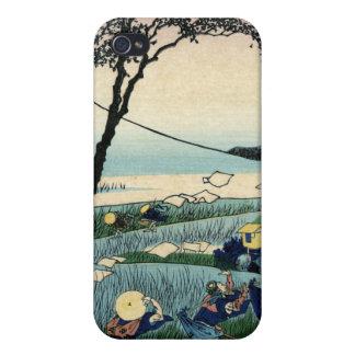 Sunshu Ejiri, 36 views of Mount Fuji. Hokusai Cover For iPhone 4