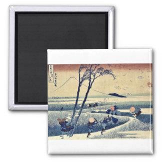 Sunshu ejiri By Katsushika, Hokusai Ukiyoe. Magnet