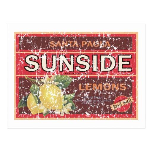 Sunside - distressed postcard