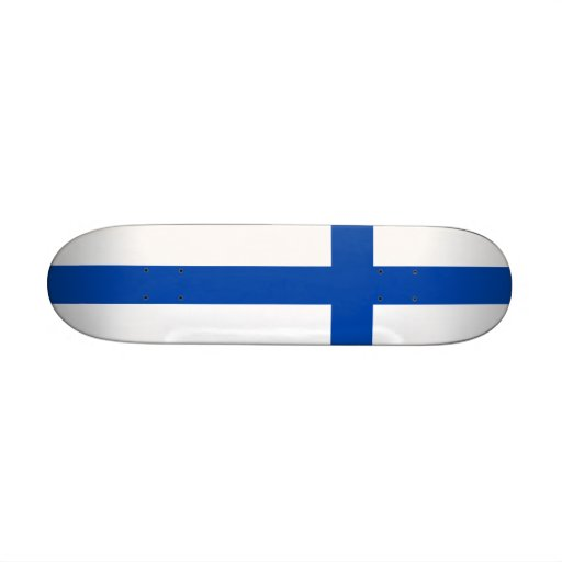 Suomen lippu skateboard - The Flag of Finland