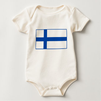 Suomen Lippu - The Flag of Finland Baby Bodysuit