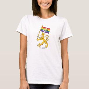 Suomenleijona + rauhansymboli t-paita T-Shirt 77423ccbe7