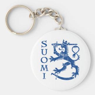 Suomi Basic Round Button Key Ring