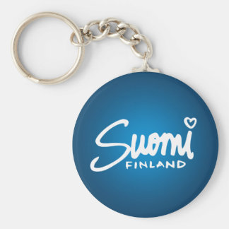 Suomi Finland 2 Basic Round Button Key Ring