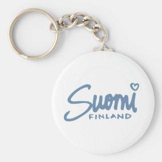 Suomi Finland 4 Basic Round Button Key Ring
