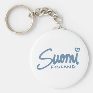 Suomi Finland 4 Basic Round Button Key Ring