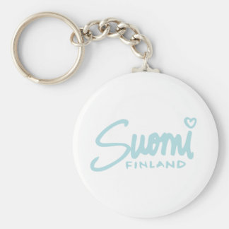 Suomi Finland 5 Basic Round Button Key Ring
