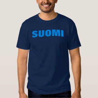 SUOMI (Finland) Blue on Blue T Tshirt