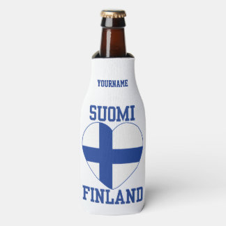 SUOMI FINLAND custom bottle cooler