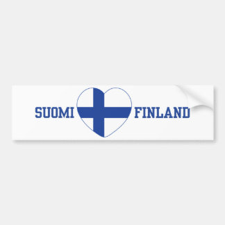 SUOMI FINLAND custom bumpersticker Bumper Sticker