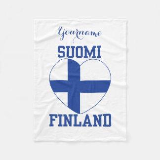 SUOMI FINLAND custom fleece blanket