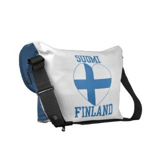 SUOMI FINLAND custom messenger bag