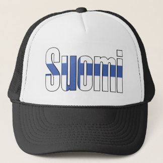 Suomi (Finland) Flag T-shirt Trucker Hat