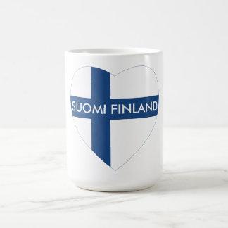SUOMI FINLAND HEART COFFEE MUG
