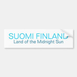 SUOMI FINLAND, Land of the Midnight Sun Bumper Sti Bumper Sticker