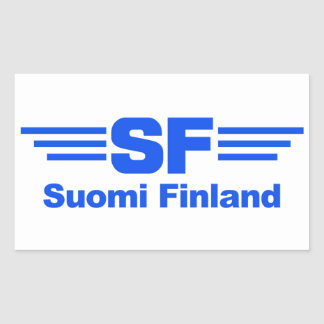 Suomi Finland stickers, customizable Rectangular Sticker