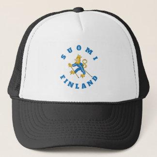 Suomi-Finland tuulipuku suomileijona, lippalakki Trucker Hat